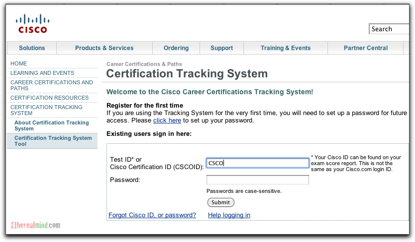 Cisco Credential Verification Report Checking Certification Status