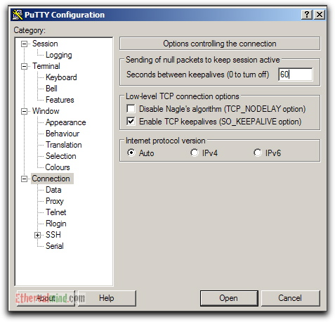 Putty - Recommended Default Settings for a Network Engineer