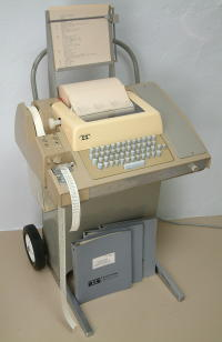 A teletype (as stolen from http://www.pdp8.net/asr33/asr33.shtml)