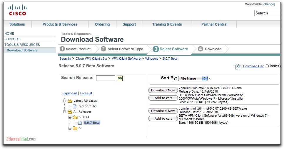 Cisco ipsec vpn client 64 bit in beta etherealmind.
