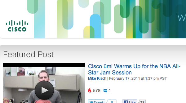 Cisco Blog cheesy porn look