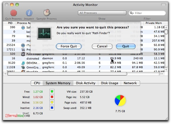 OSX: Three Ways to Kill or Force Quit System Processes and