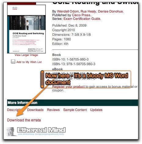 Ciscopress errata updated 2