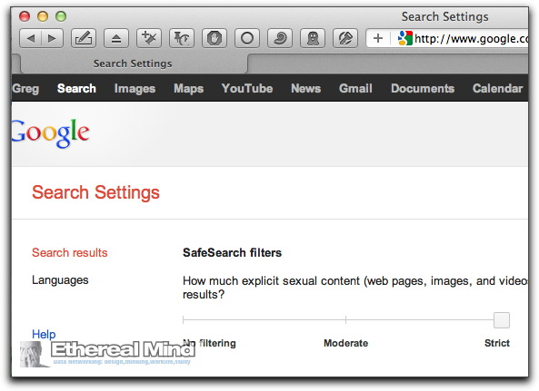 Google search settings 1