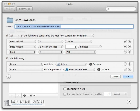 Inboxing the DevonThink Pro with PDFs.