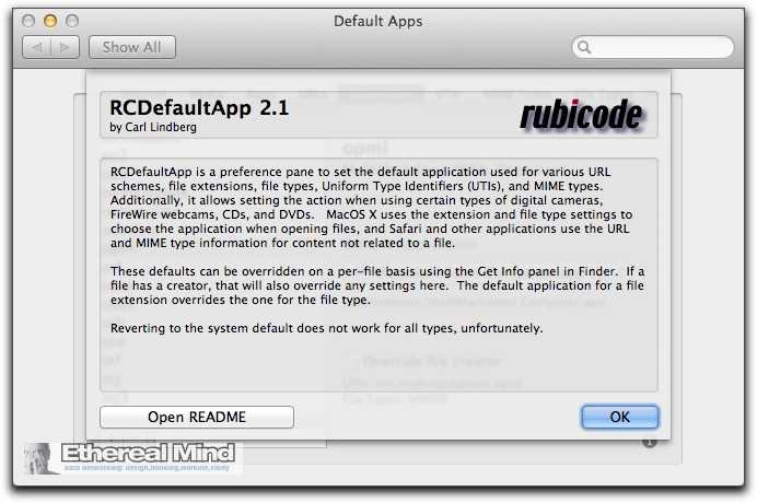 OSX-RCDefault App – editing the default application