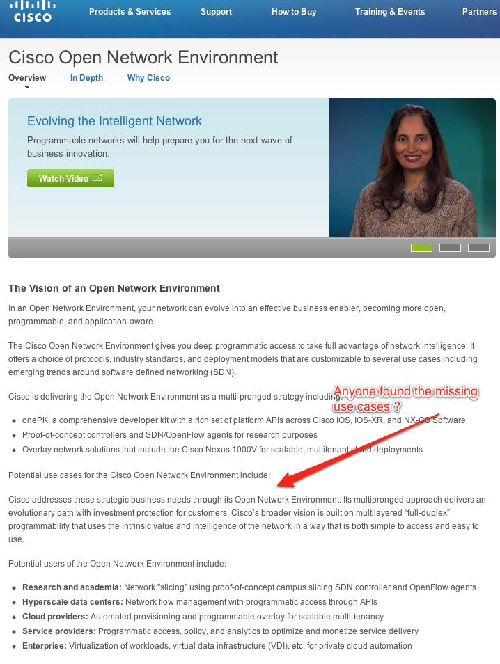 Cisco Open Network Environment  Cisco Systems