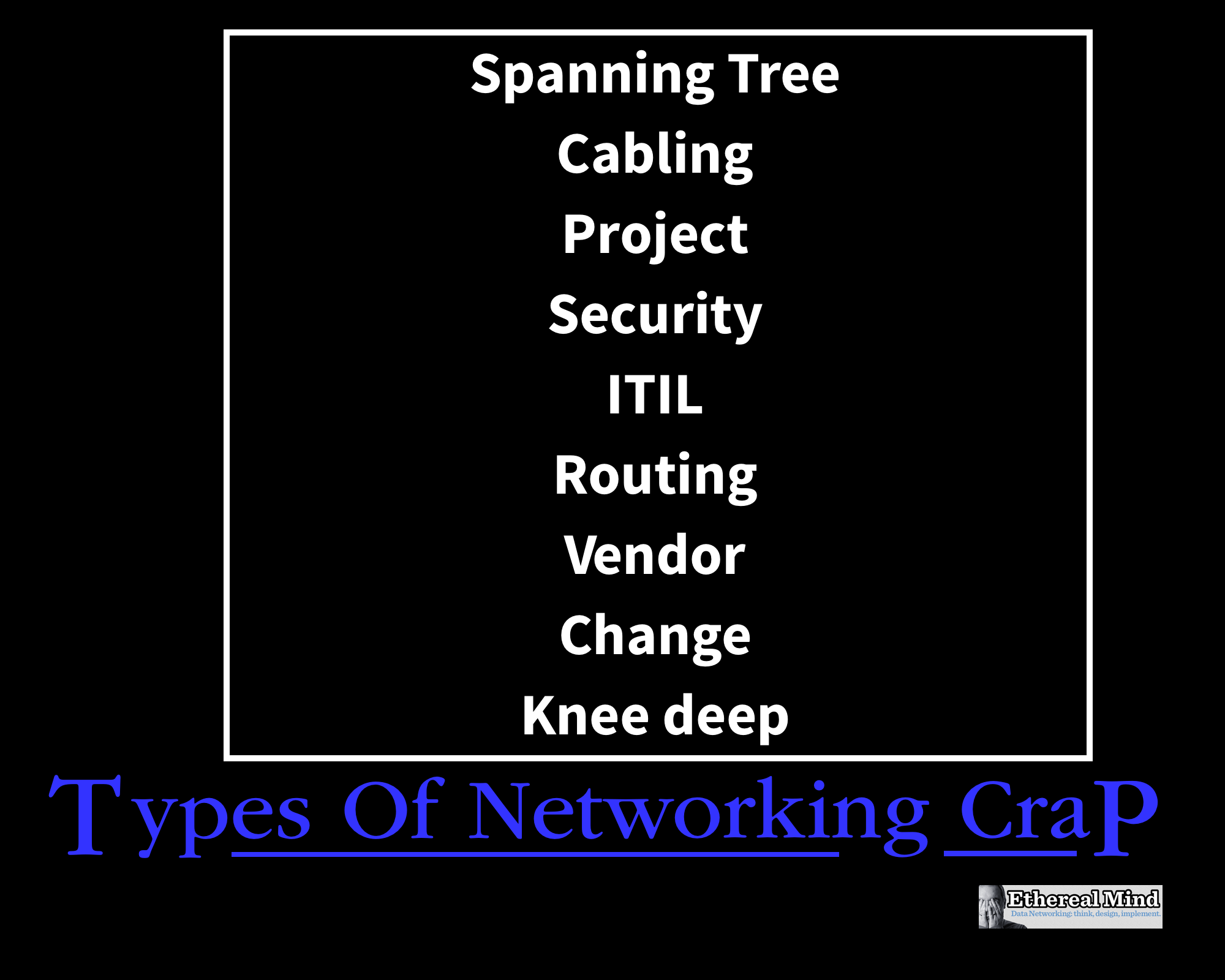 Humour: Types of Networking Crap Poster