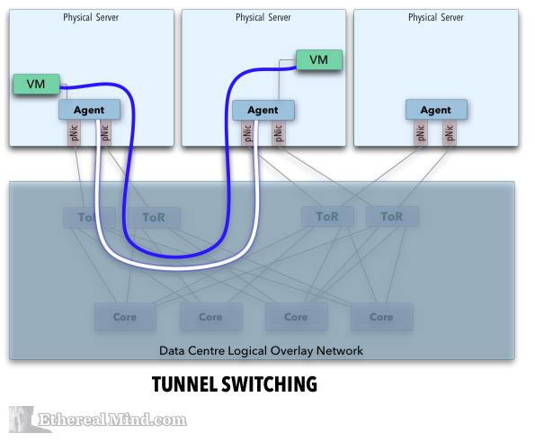 Switch Path Through Overlay Network