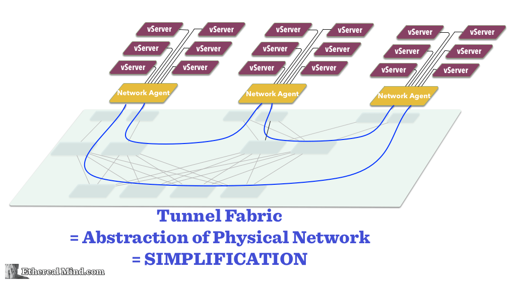 A Tunnel Fabric is an Abstraction of the Physical Network - Click for Larger