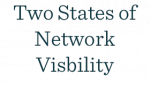 Poster: Network Visibility Dual State Diagram