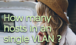 How Many Hosts In An VLAN or IP Subnet and Why ?