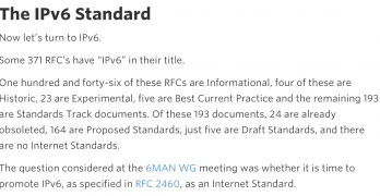There is NO IPv6 Standard